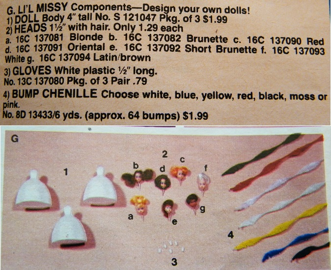 catalogue doll parts